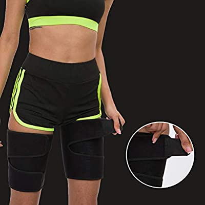 AGAWA 1 Pair Thigh Trimmer for Men and Women Sports Thigh Shaper Weight Loss Sweat Thigh Slimmer Wraps, Black2, XL : Sports & Outdoors