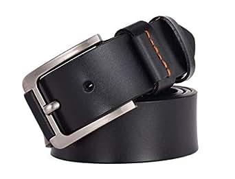 Coolerfire Black Faux Leather Belt For Men