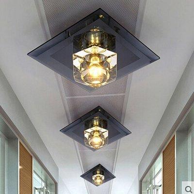 Deckenleuchten Kronleuchter Modernen für Flur, Schlafzimmer, Küche, Kinderzimmer, Wohnzimmer Deckenleuchte Diamond Crystal Schwarz 18  18 cm Led