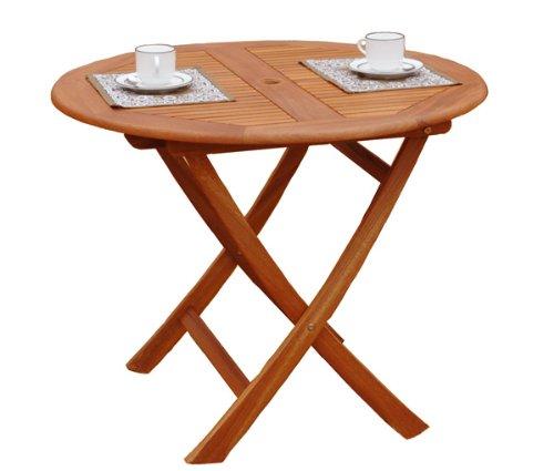ガーデンステディテーブル ラウンド 90cm STR-90 イエローバラウ材使用 B007TQ6DI6