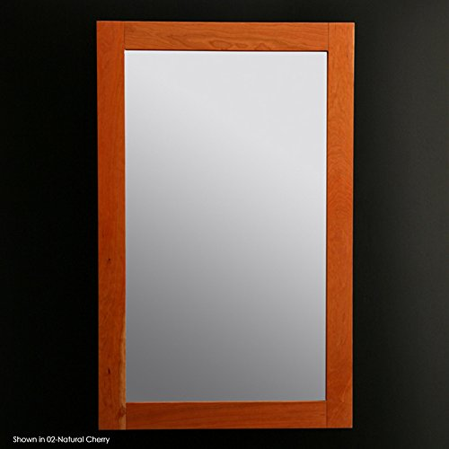 """Lacava Mirror with wood frame, 24""""W, 38""""H Natural Cherry Console"""