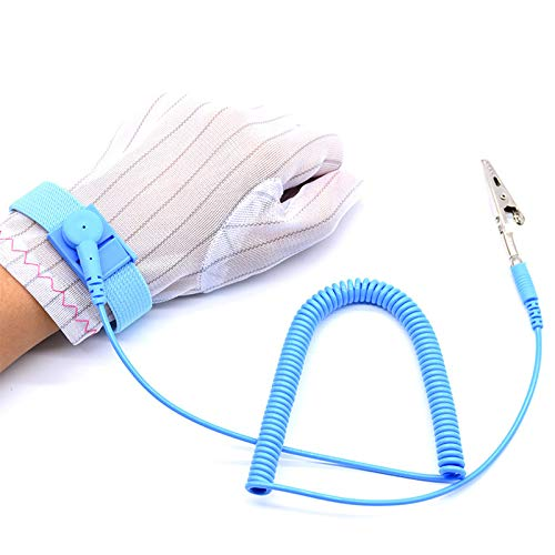 ESDELES ESD Wrist Strap Band Conductive Grounding Wire Anti Static Wrist Strap Wristband Adjustable ES16101
