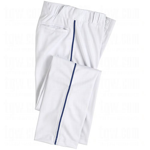 Champro Youth Dri-Gear Pro Plus Piped Open Bottom Pants Small White/Navy