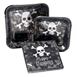 Happy Halloween Party Set- Skull & Crossbone Party Set for 12