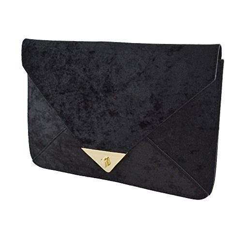 Evening Handbag Glam Clutch Black Envelope Velvet Women��s Essex Bag Velvet tTZwqPnP