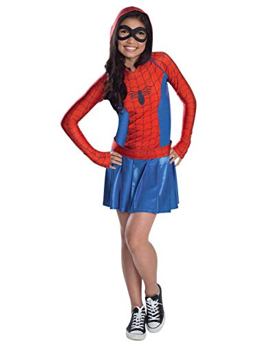 Rubies Marvel Classic Child's Spider-Girl Hoodie Costume Dress, Medium -
