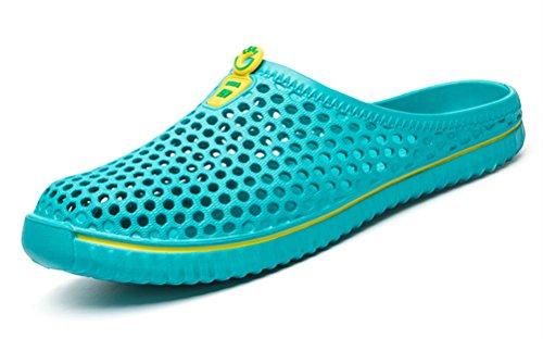 clapzovr Unisex Garden Clogs Slippers Water Sandals Shower Beach Shoes Leightweight for Women and Men Light Blue - 7.5 M US Women / 6.5 M US Men