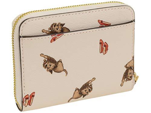コーチ オズの魔法使いコラボ♪二つ折り財布 ドロシーの愛犬トトとルビー色の靴がプリントされたミニウォレット アウトレット coach F39297