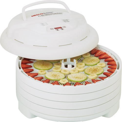 Nesco FD-1040 Gardenmaster Food Dehydrator, White, 1000-watt - MADE IN USA