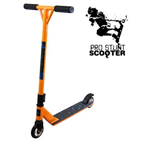 Xspec Orange Pro Aluminum Stunt Kick Scooter Tricks Skatepark BMX Handle