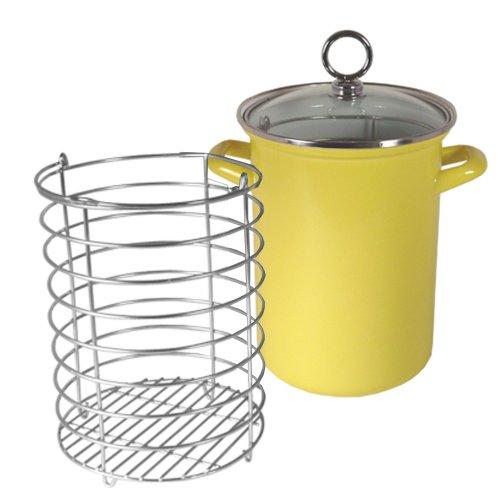 Reston Lloyd Calypso Basics Asparagus/Vegetable Pot, Lemon, 3-Qt.
