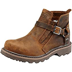 Comfortable Non Slip First Layer Genuine Leather Boots Stylish Casual Work Shoes for Mens
