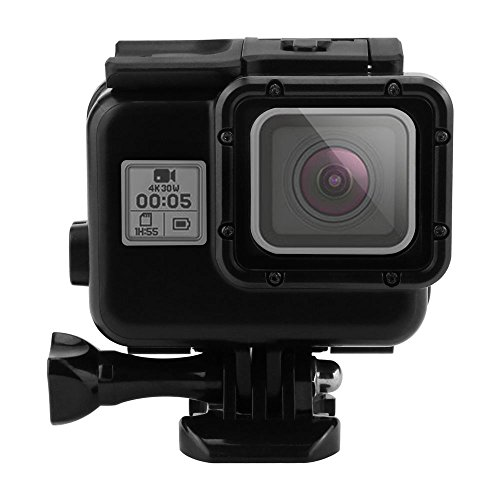 Outtek 6' Dome Port Lens for Gopro Hero 5, Shoot Waterproof Diving Housing with Transparent Lens Cover + Handheld Floating Bar for Underwater Photography – Black