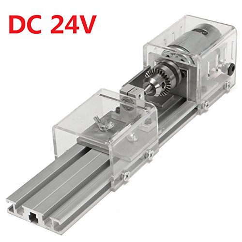 New LB-01 Mini Lathe Beads Machine Woodworking DIY Lathe Polishing Drill Rotary Tool DC 24V by Letbobg