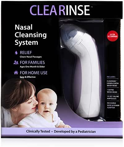 CLEARinse Electric Nasal Cleaning Aspirator and Saline Starter Kit