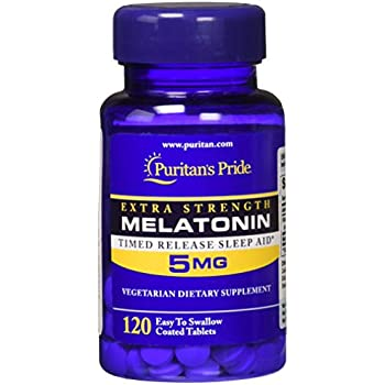Puritans Pride Melatonin 5 mg Timed Release-120 Tablets