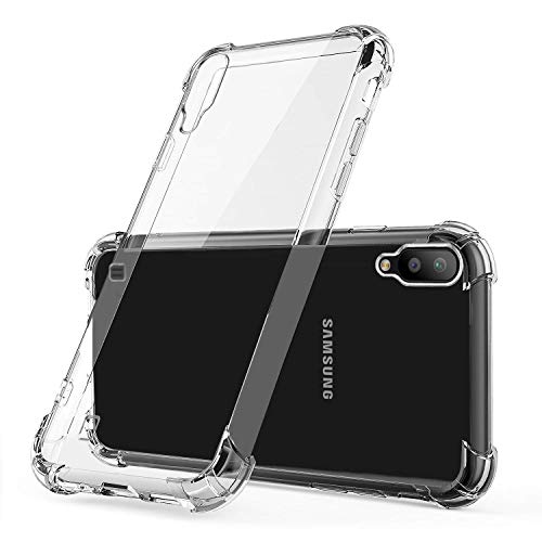 JGD PRODUCTS® Shock Proof Protective Soft Back Case Cover for Samsung Galaxy M01 (2020) (Transparent) [Bumper Corners wi