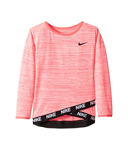 (Nike Kids Girl's Dri-Fit Sport Essentials Crossover Tunic (Little Kids) Racer Pink 6)
