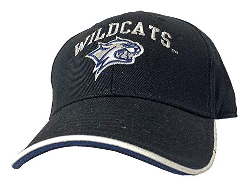 Signatures NCAA New Hampshire Wildcats Adjustable Strap Back Embroidered Logo Hat, Black (Of Merchandise New University Hampshire)