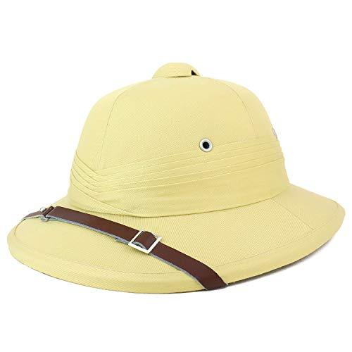 (Armycrew Indian Style Safari Pith Helmet Hat - Khaki)