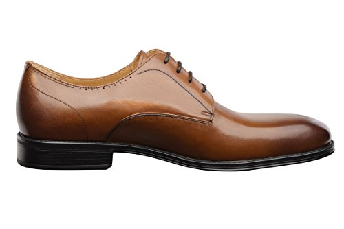 Comotek Mens Comfort Casual Dress Classic Oxford Scarpe In Pelle Pieno Fiore Per Il 2018 Design-andros Tan-1