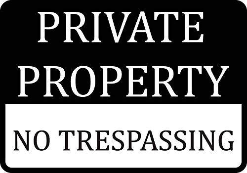 Cartel de propiedad privada sin pasos, de aluminio, 2 ...