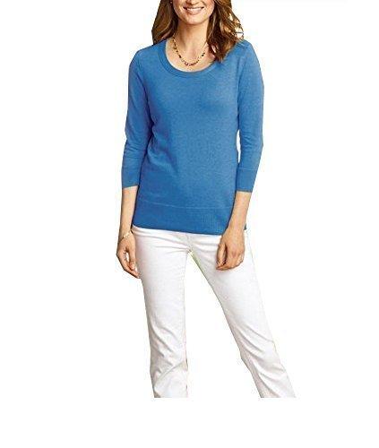 Jersey 3/4 Brazo Mujer de Eddie Bauer Azul Moteado