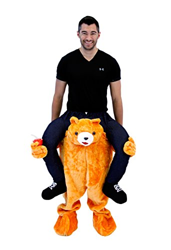 Costume Agent Men's Piggyback BEAR Ride-On Costume, Bear, Adult (Ted Costume For Halloween)
