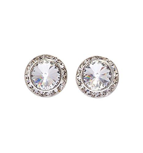 20MM Pierced Swarovski Crystal Earrings,2708SAP,Sapphire,One-Size (Earrings Sapphire Pierced)