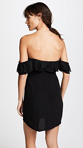 For Love & Lemons Women's Claire Off Shoulder Dress, Black, X-Small by For Love & Lemons (Image #3)