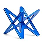 CIGARLOONG Cigar Stand Blue Stainless Steel Cross