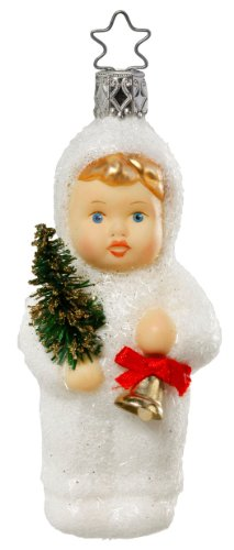Inge Glas Girl Kinder of Caroling 1-037-11 German Glass Christmas Ornament