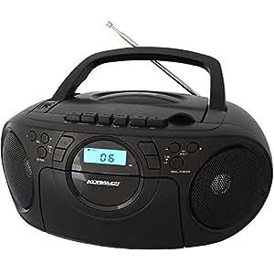 KORAMZI Handheld Cassette Player & CD Player - CD705BK