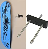 Skateboard Wall Mount Hanger - Skateboard Deck Display Wall Mount Hanger Rack for Skateboard Deck Display and