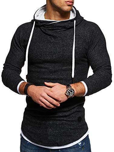 (Behype Men's Sweater Jumper Hoodie Sweatshirt Pullover Longsleeve Tops MT-7431 (Black,S))