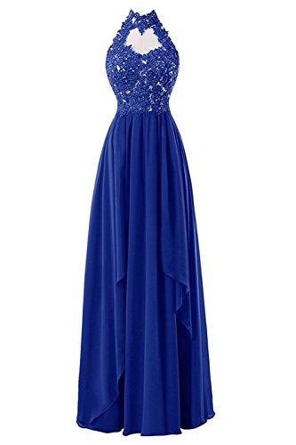 Blue Lang Brautjungfernkleider Royal Abendkleider Damen Bainjinbai Applikation Ballkleider Cocktail 8OdggqT