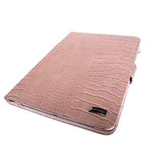 JAVOedge Pink Croc Book Style Case for the Amazon Kindle DX