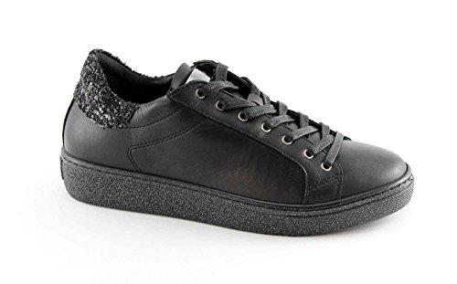 Grunland NIQU SC2072 Black Lace Shoes Platform Glitter Nero XOR1sTX