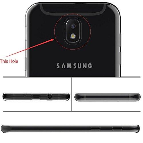 2 Pack Funda para Samsung Galaxy J3 2017 SM-J330 (Sólo se aplica a la versión europea) , IJIA Transparente TPU Silicona Suave Cover Tapa Caso Parachoques Carcasa Cubierta para Samsung Galaxy J3 2017 S WM22+WM85