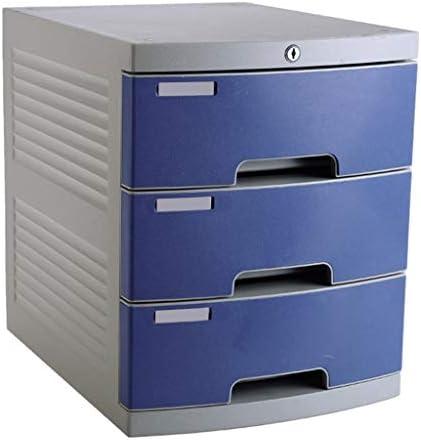 Cajón archivador de Oficina Caja de Almacenamiento de Datos de Escritorio de 3 cajones Cerradura con Llave Gabinete de Oficina Plástico Azul 29.8 * 38.2 * 36.6cm Caja de Almacenamiento: Amazon.es: Electrónica