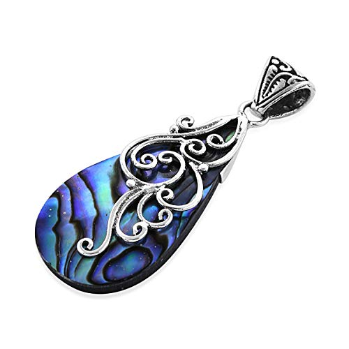 Pendant 925 Sterling Silver Abalone Shell Boho Handmade Fashion Jewelry for Women 3