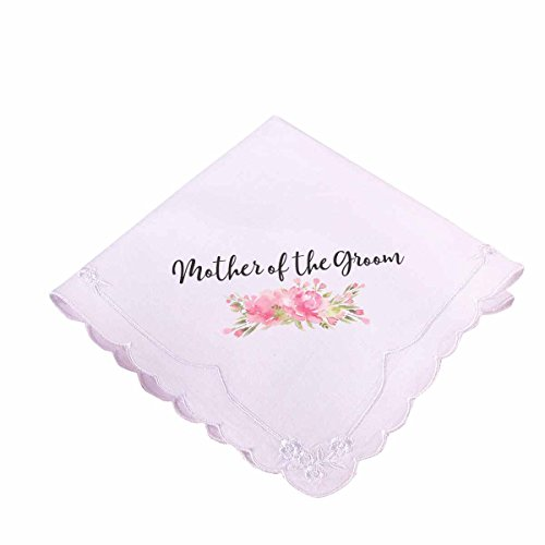 - Lillian Rose AZ270002 MG Pink Mother of the Groom Hankie, White