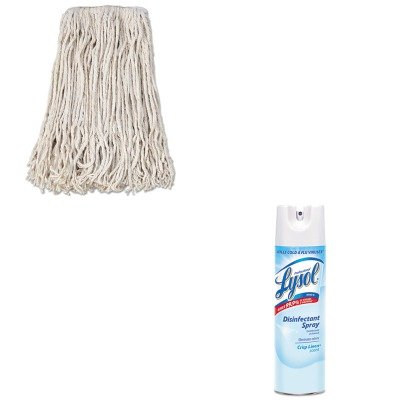 KITBWKCM02024SRAC74828CT - Value Kit - Boardwalk Banded Cotton Mop Head (BWKCM02024S) and Professional LYSOL Brand Disinfectant Spray (RAC74828CT)
