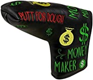 Foretra – Putt for Dough - Money Maker Black Golf Putter Headcover Quality PU Leather Magnetic Closure for Bla