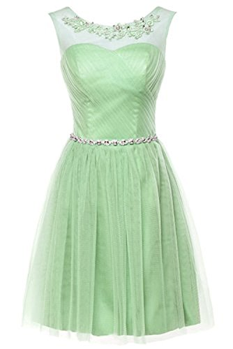 Demoiselle 2017 Couturebridal® De Clair D'honneur Chic Nouvelle Courte Robe Vert RwxXqZx6tr