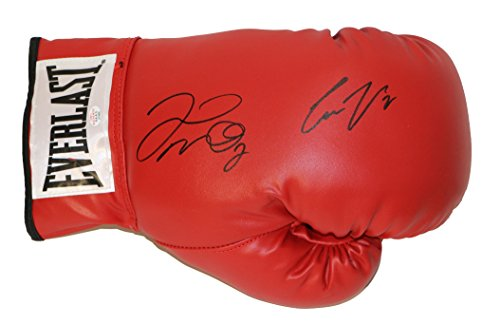 Floyd Mayweather Jr. and Conor McGregor Signed Autographed Red Everlast Boxing Glove PAAS COA (Boxing Floyd Mayweather Jr Vs Conor Mcgregor)