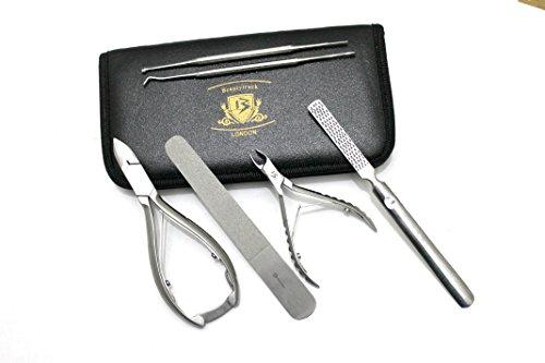 BeautyTrack® - Fußpflege Podologen Einholen, für Nail Cutter Clipper Set für alle Art von Nägel - Kommt in BeautyTrack Sicherheit Tasche