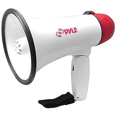 PYLE PRO PMP37LED Mini Compact Megaphone Bullhorn with Siren Alarm & LED Lights PET2
