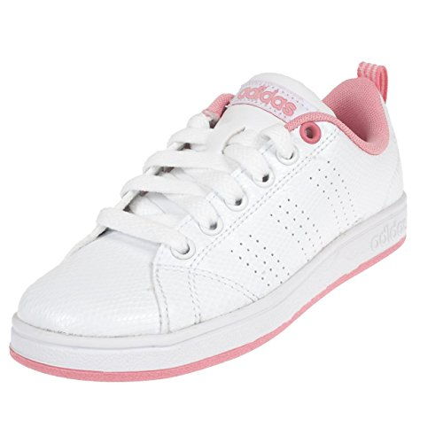 adidas Unisex-Kinder Vs Advantage CL K Basketballschuhe Elfenbein (Ftwr White/ftwr White/light Pink)