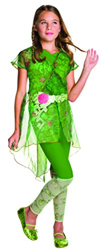 Poison Ivy Fancy Dress Costumes (Rubie's Costume Kids DC Superhero Girls Deluxe Poison Ivy Costume, Large)